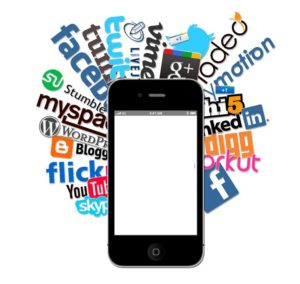 social media sites behind smart phone