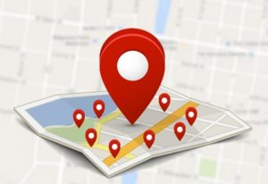 local seo map with map points