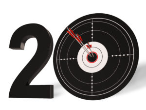 20 Target Showing Anniversary of our Experienced Marketing Company