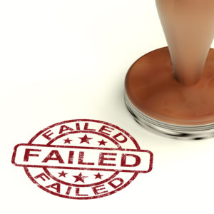 Failed Stamp Showing Social Media Marketing Failure